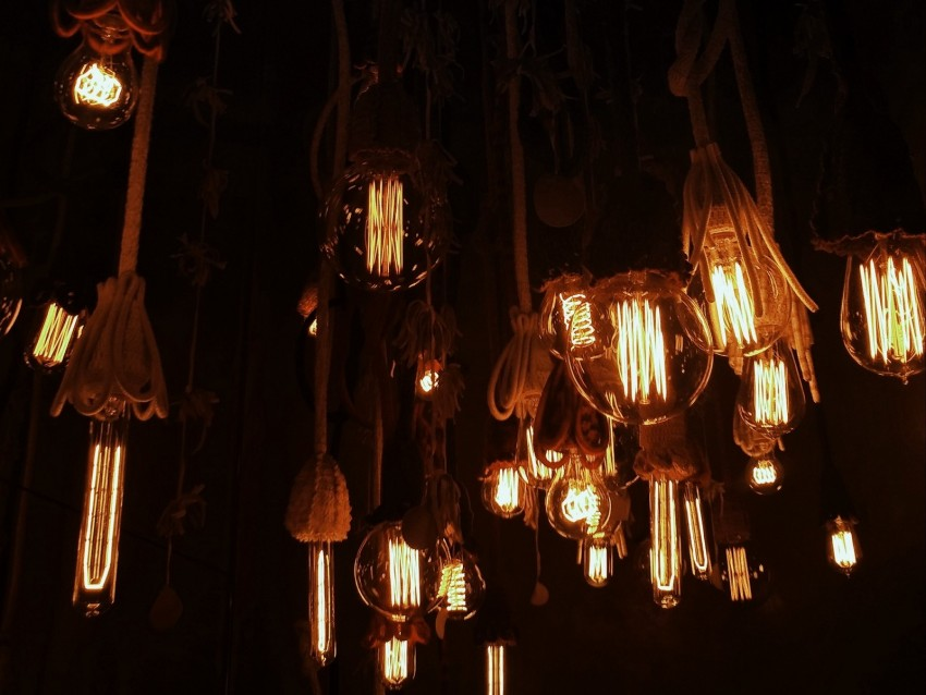 free PNG light bulbs, chandeliers, ropes, lighting, light, electricity background PNG images transparent