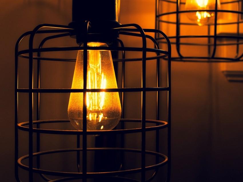 free PNG light bulbs, lanterns, light, electricity, dark background PNG images transparent