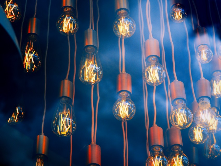 free PNG light bulbs, smoke, light, glow, electricity background PNG images transparent