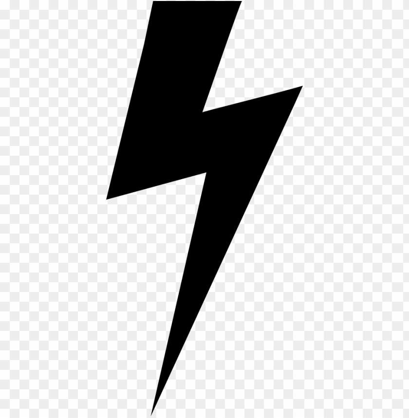 Lightning Bolt Black Png Image With Transparent Background Toppng