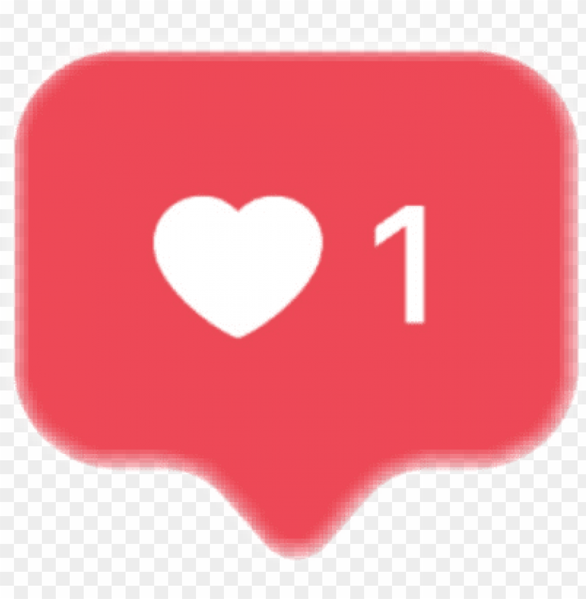 free PNG like heart shape bubble 1like onelike notification - like instagram icon PNG image with transparent background PNG images transparent