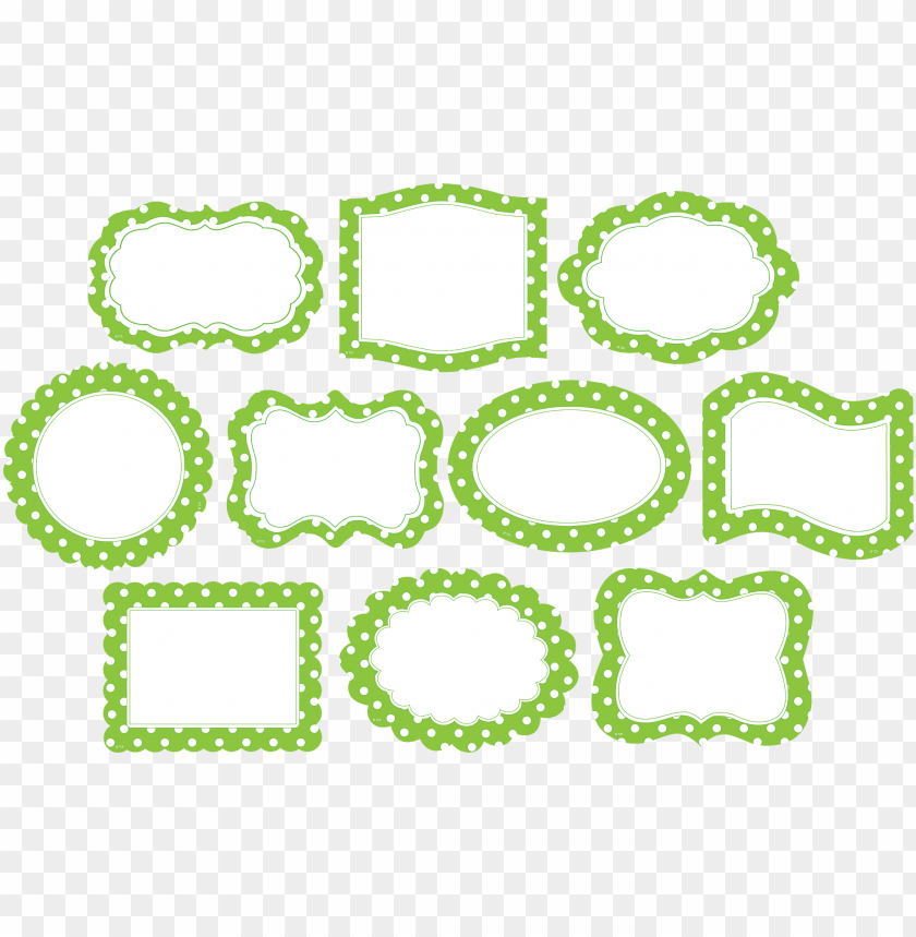 free PNG lime border frame png photos - green polka dot frame PNG image with transparent background PNG images transparent