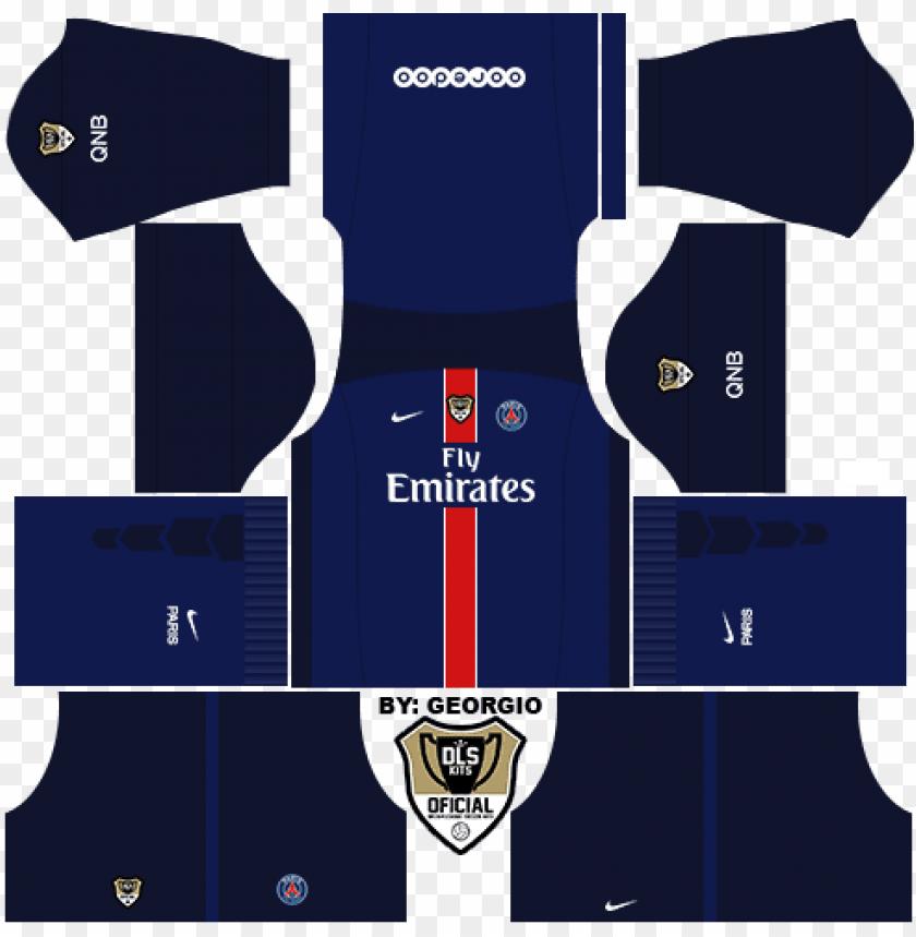 free PNG link psg dls16 & fts << - dream league soccer 512x512 kits ps PNG image with transparent background PNG images transparent