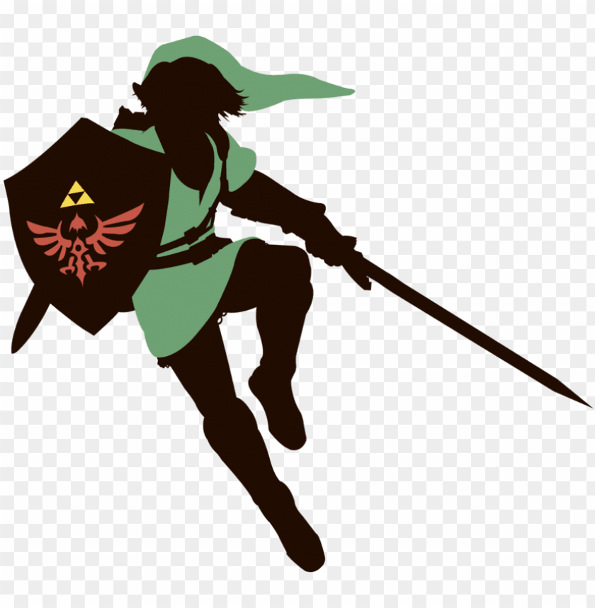 link - zelda link silhouette PNG image with transparent background@toppng.com