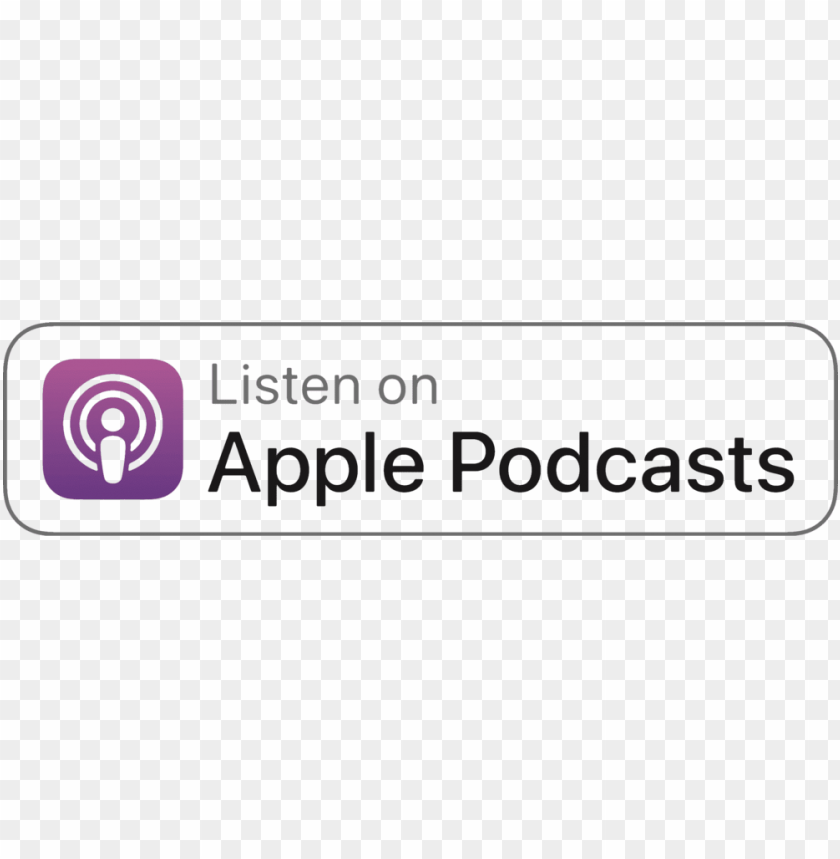 free PNG listen on itunes png - listen on apple podcasts badge PNG image with transparent background PNG images transparent