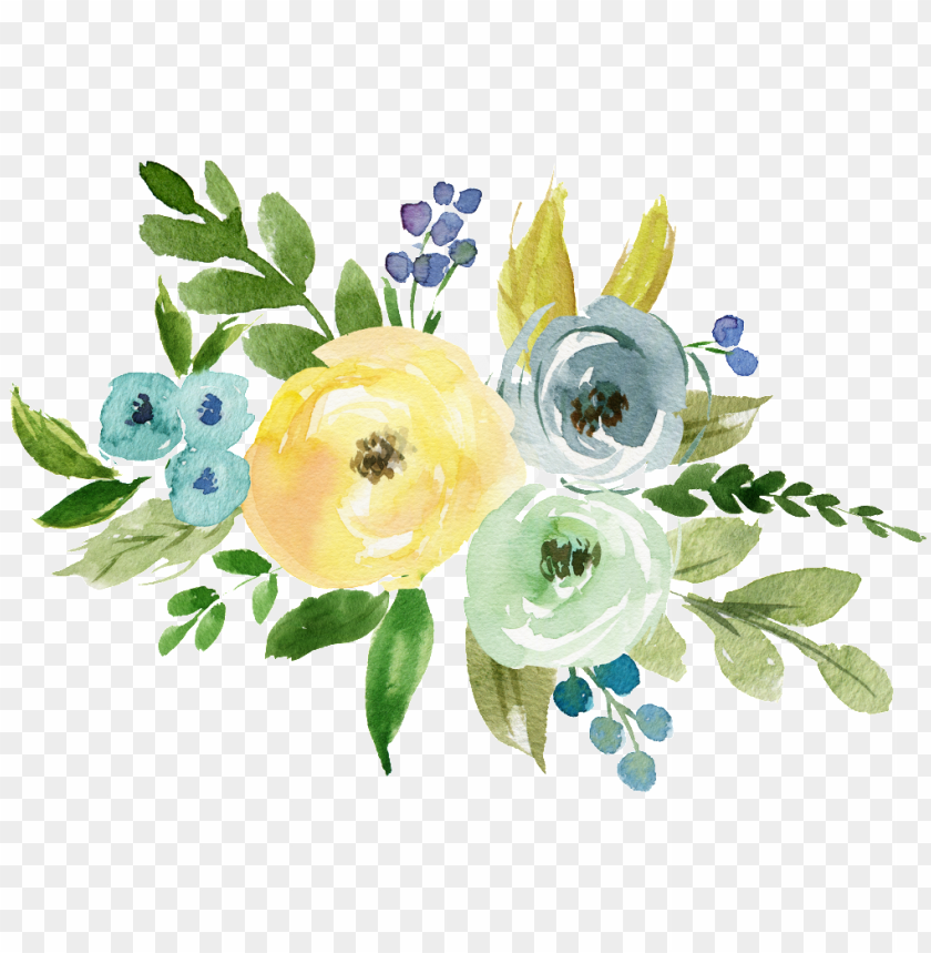 free PNG literary watercolor transparent hand painted flowers - watercolor painti PNG image with transparent background PNG images transparent
