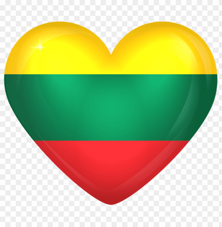 Download lithuania large heart flag clipart png photo  @toppng.com