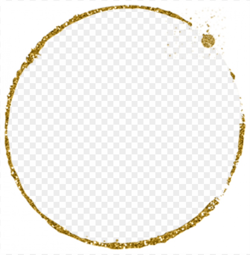 free PNG litter clipart gold circle - gold glitter frame PNG image with transparent background PNG images transparent