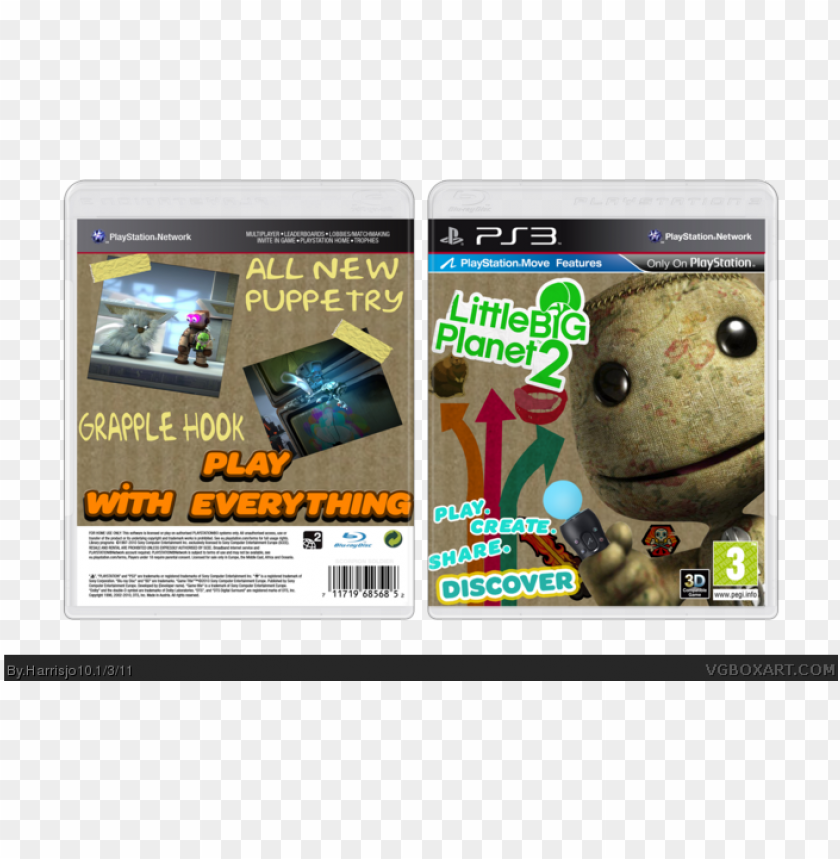 free PNG little big planet 2 box art cover PNG image with transparent background PNG images transparent