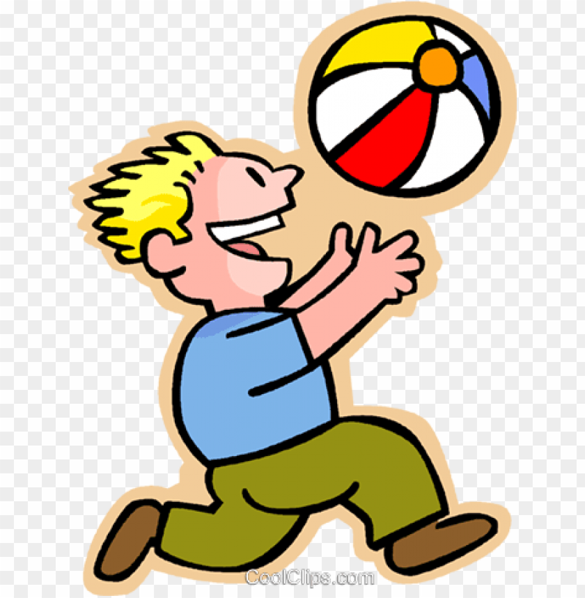 free PNG little boy with a beach ball royalty free vector clip - throw ball clip art PNG image with transparent background PNG images transparent