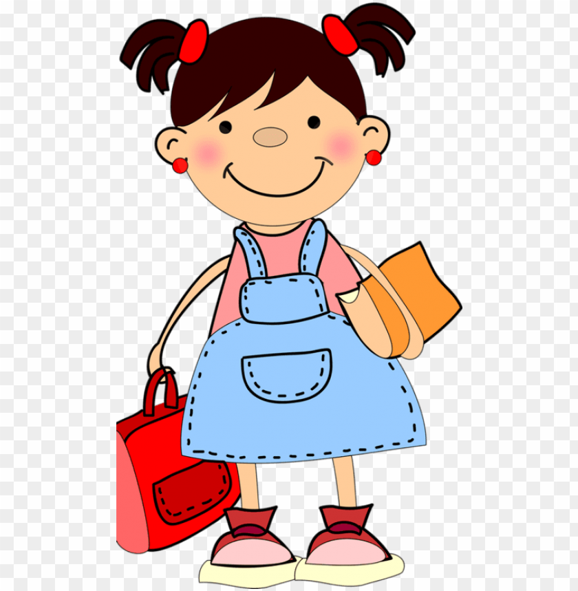 free PNG little girl clipart student - school girl clipart PNG image with transparent background PNG images transparent