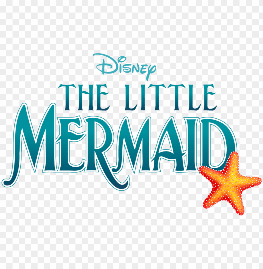 little mermaid logo - disney's the little mermaid jr. by alan menke PNG image with transparent background@toppng.com
