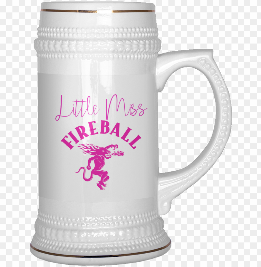 free PNG little miss fireball beer stein - fireball coffee mug, coffee travel mug, coffee thermos, PNG image with transparent background PNG images transparent