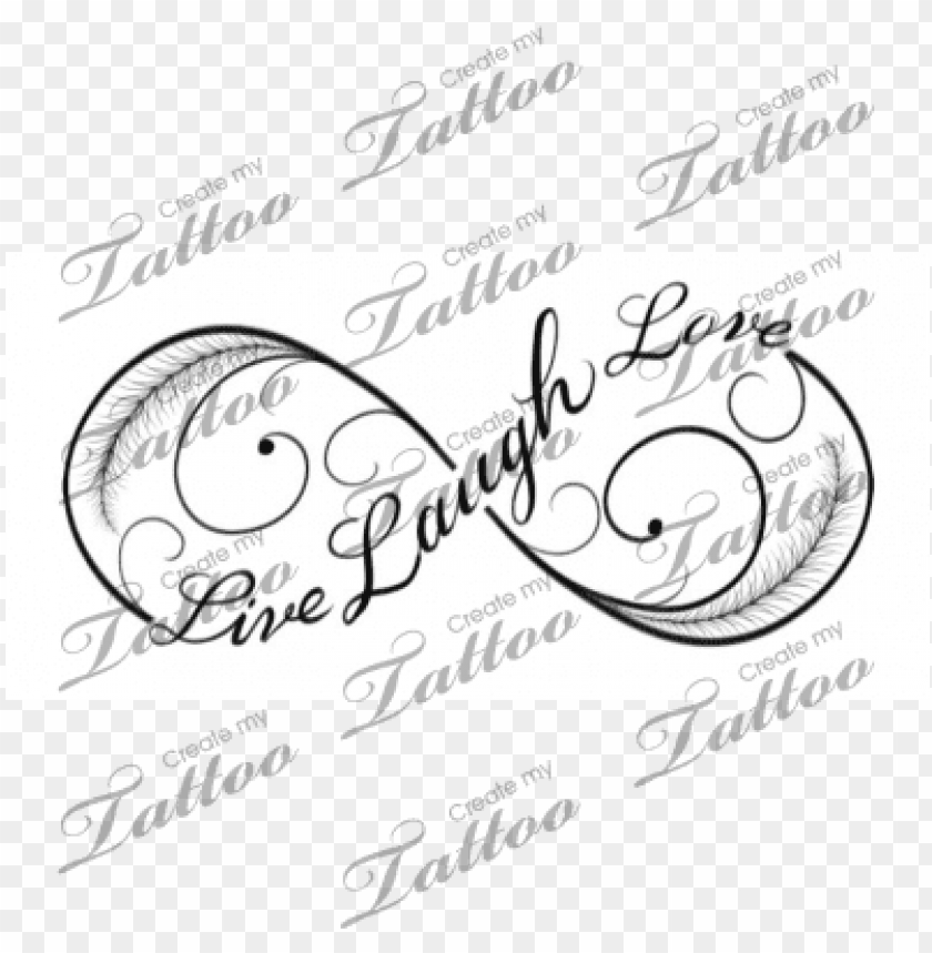 Live Laugh Love Infinity Tattoo Sisters Infinity Symbol Png Image With Transparent Background Toppng