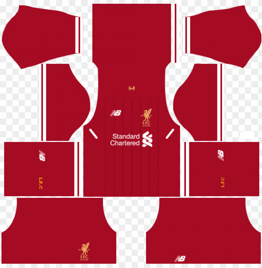 free PNG liverpool home kit dream league soccer 2017-2018 - kits dream league soccer 2018 PNG image with transparent background PNG images transparent