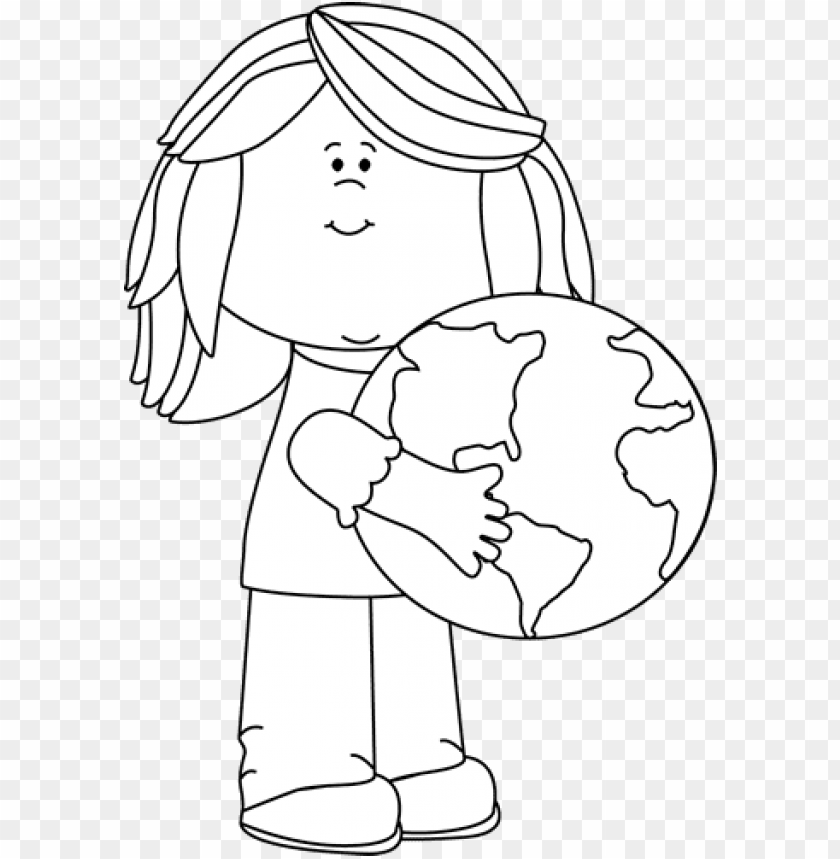 free PNG lobe black and white girl hugging earth clip art png - save the earth clipart black and white PNG image with transparent background PNG images transparent