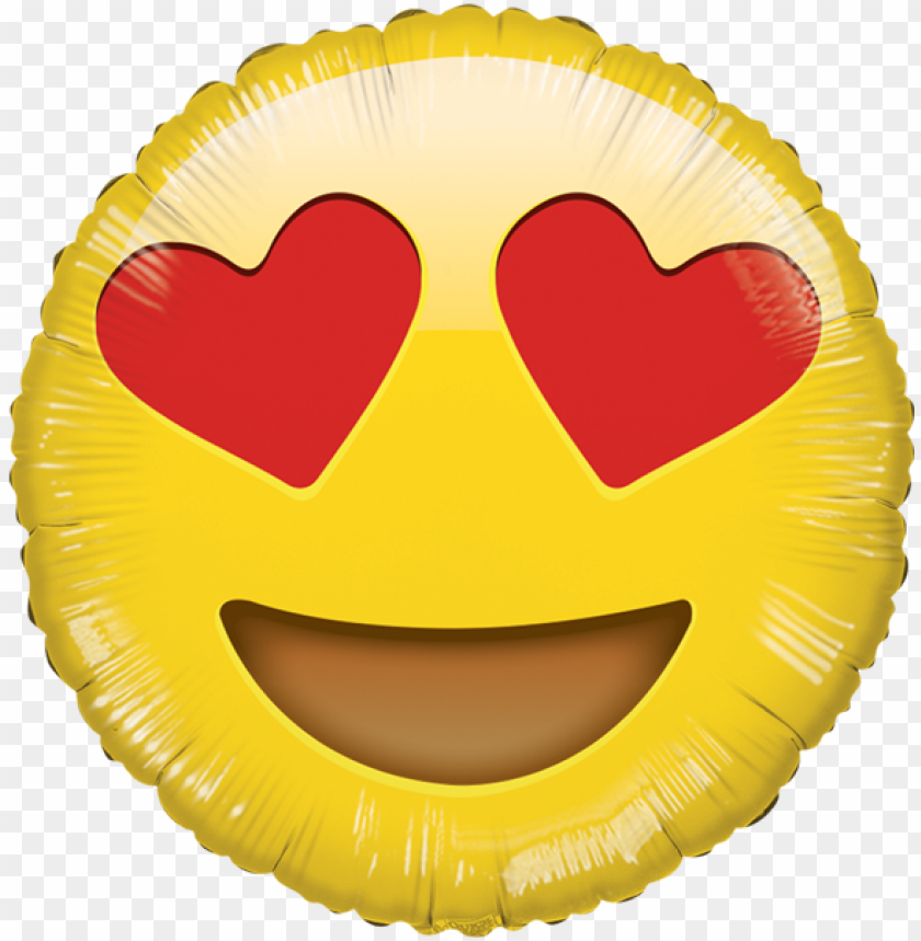 free PNG lobo emoji enamorado hb - heart eye emoji balloo PNG image with transparent background PNG images transparent