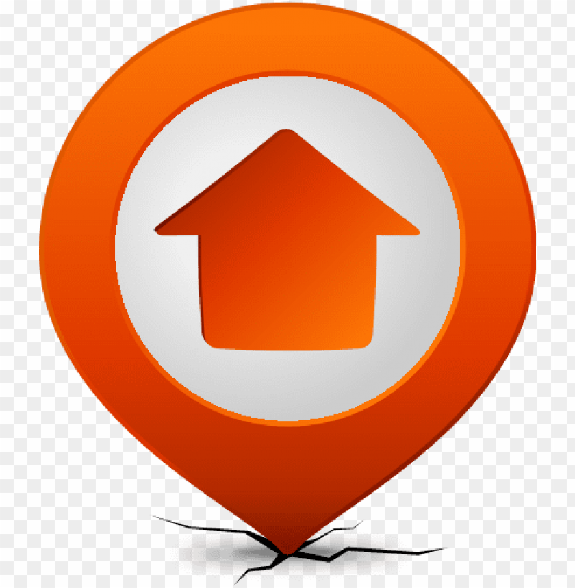 free PNG location map pin home orange - home location icon vector PNG image with transparent background PNG images transparent