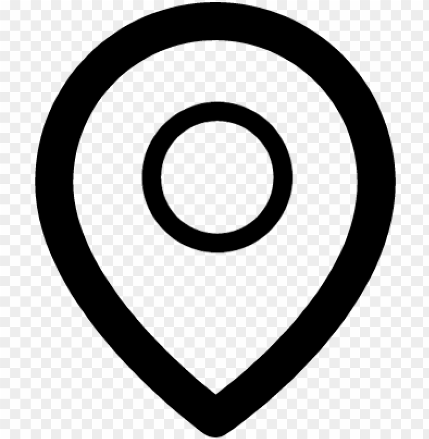 free PNG location pointer vector - black and white location logo PNG image with transparent background PNG images transparent