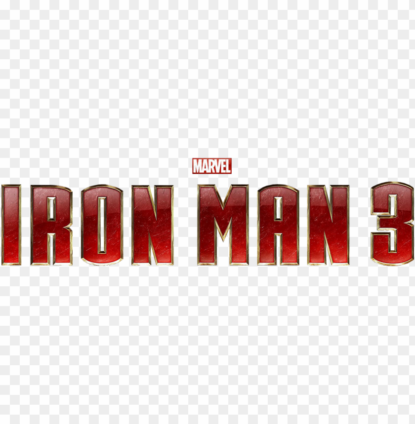 free PNG logo homem de ferro png - iron man 3 movie logo PNG image with transparent background PNG images transparent