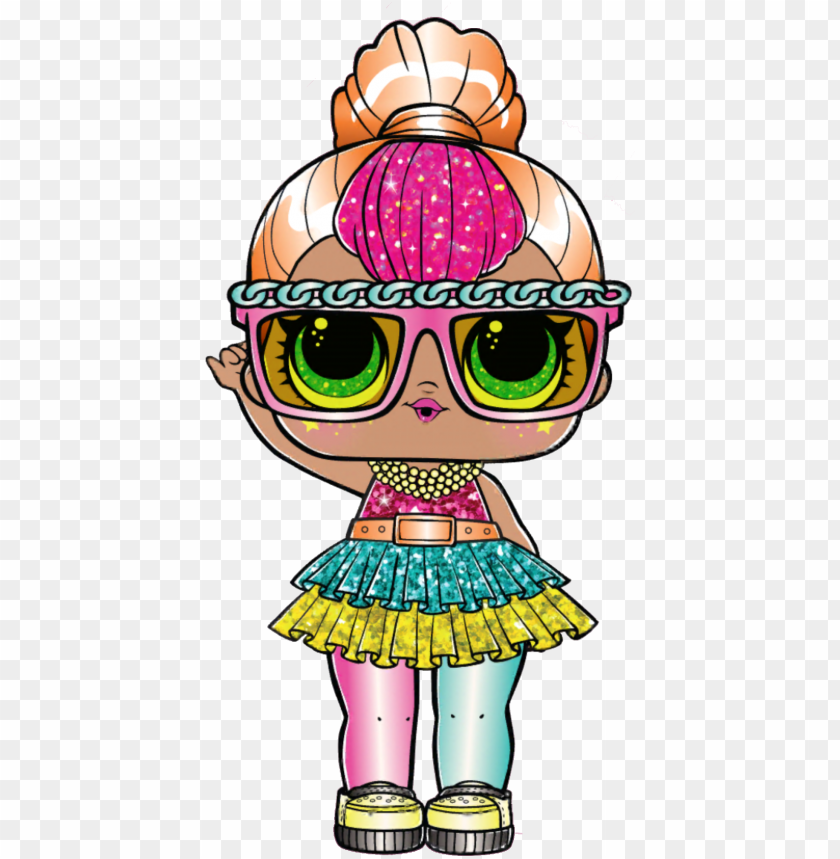 Lol Surprise Neon Qt Glitter Neon Qt Lol Doll Png Image