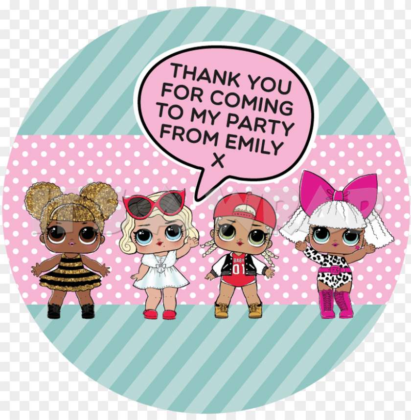 free PNG lol surprise sweet cone stickers - lol dolls birthday card PNG image with transparent background PNG images transparent