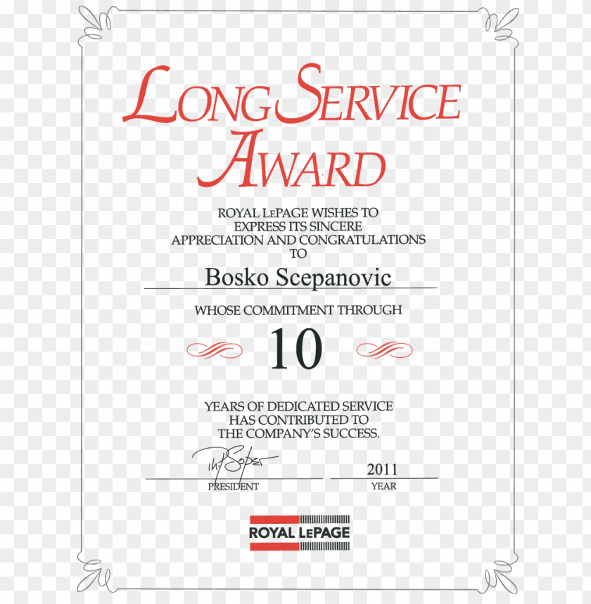 Long Service Award Certificate Template Free Forte Long Service