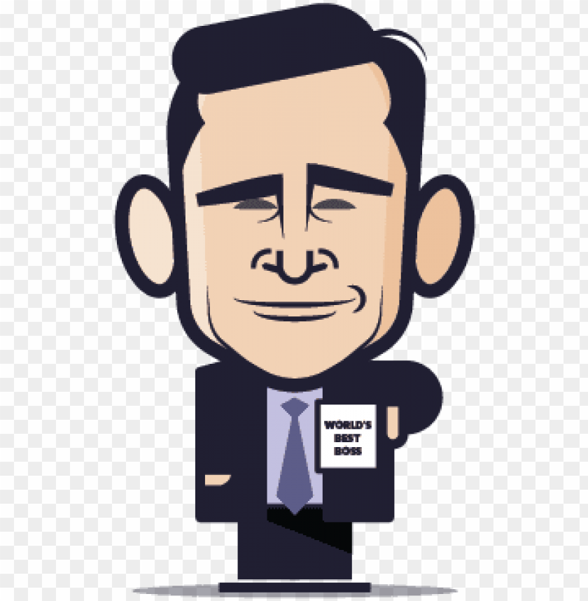 free PNG loogmoji of michael scott - cartoon michael scott PNG image with transparent background PNG images transparent