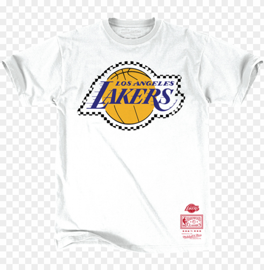 Los Angeles Lakers Checkered Filled Logo T Shirt Png Image With Transparent Background Toppng