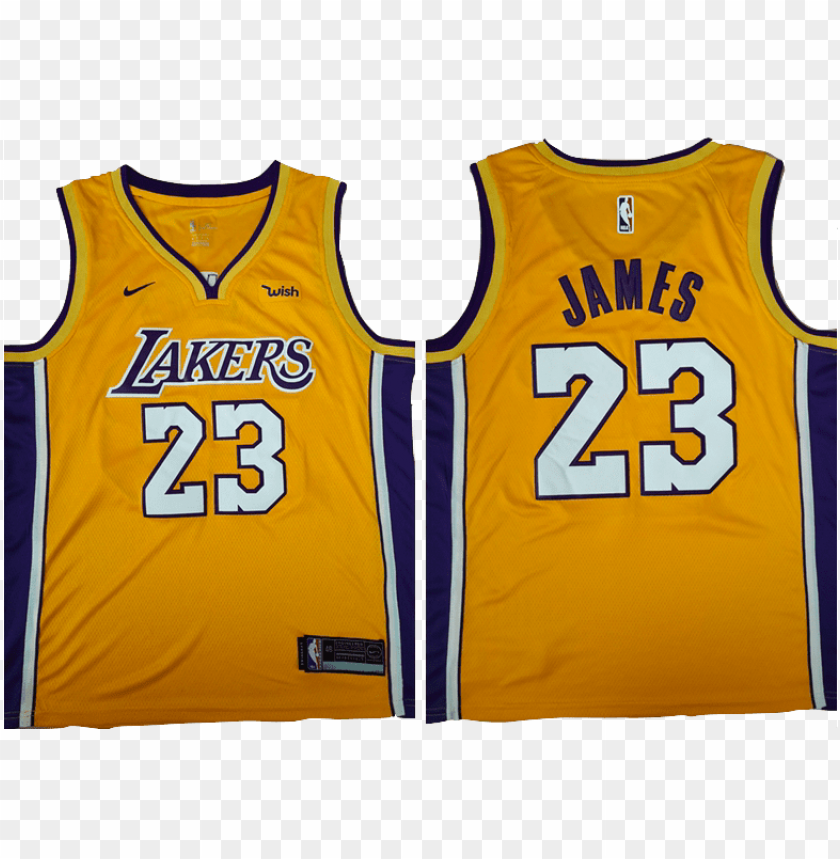 Los Angeles Lakers Jersey Lebron Yellow Lakers Jersey Png Image With Transparent Background Toppng