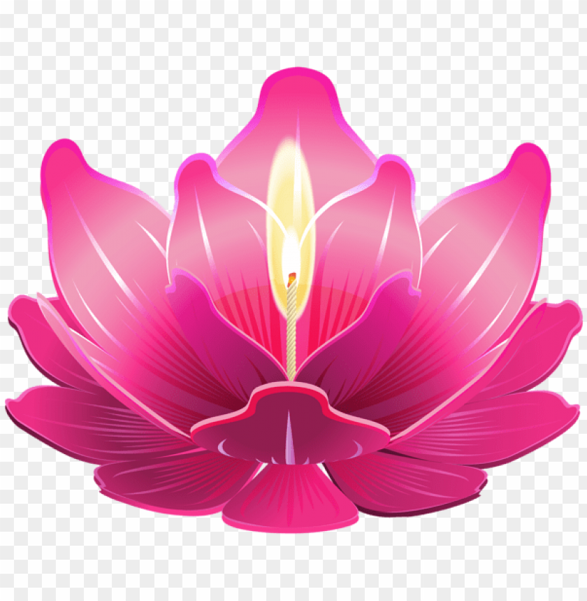 free PNG Download lotus with candle png clipart png photo   PNG images transparent