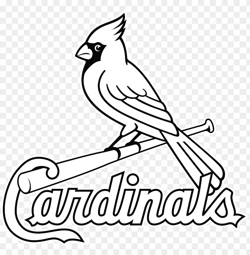 Louis Cardinals Logo Black And White