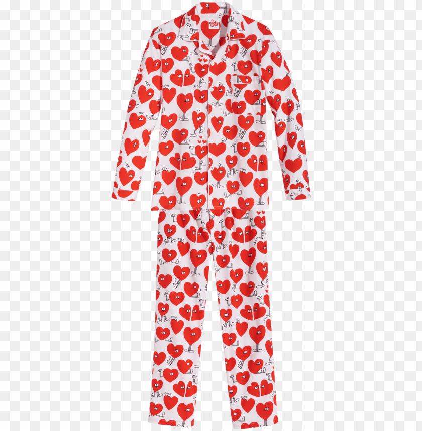 free PNG lousy livin pyjama valentines pyjama set white - elastic ribbo PNG image with transparent background PNG images transparent