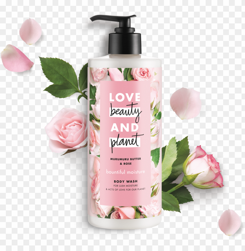 love beauty and planet murumuru butter & rose body - love beauty planet body wash PNG image with transparent background@toppng.com