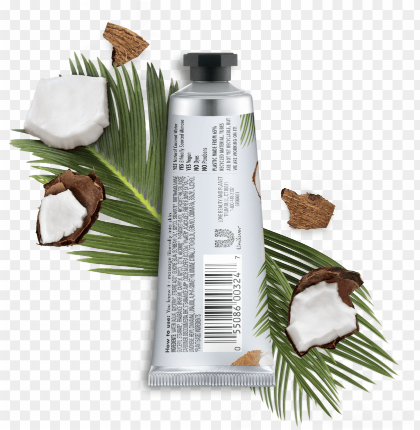 free PNG love beauty & planet coconut water mimosa flower refreshing - love beauty and planet conditioner PNG image with transparent background PNG images transparent