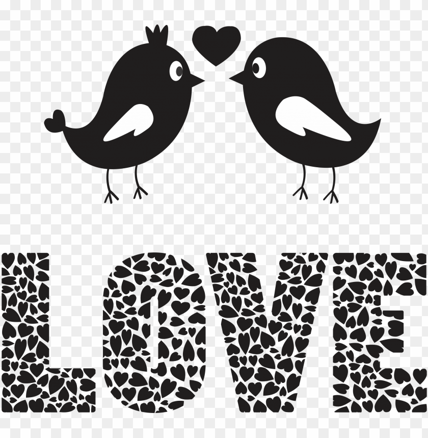 free PNG love birds png image - love birds black and white PNG image with transparent background PNG images transparent