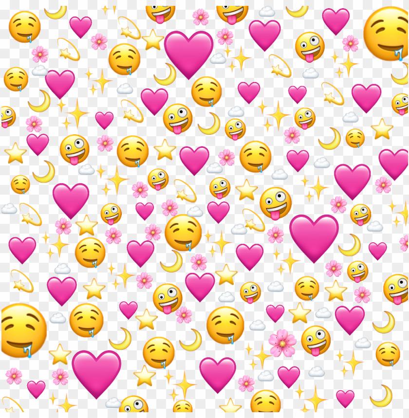 free PNG ????✨ love flower pink emoji ios iphone heart meme cloud - emoji PNG image with transparent background PNG images transparent