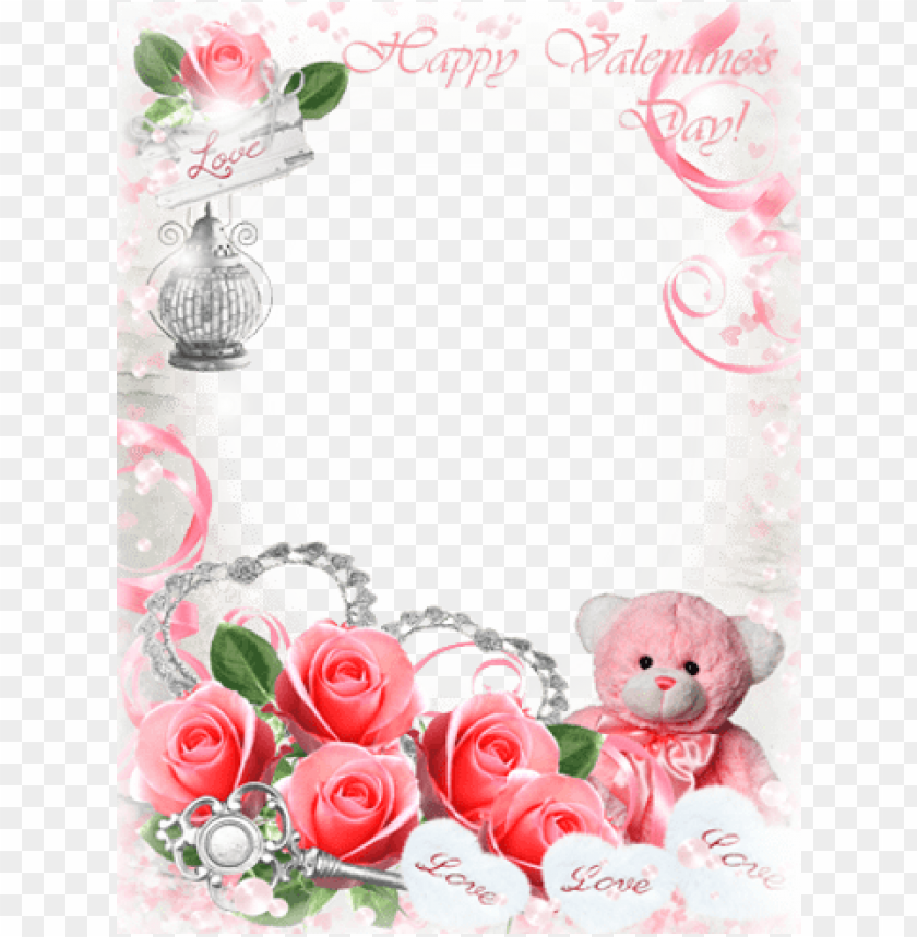 love frames love frames love frames love frames - romantic rose photo frame PNG image with transparent background@toppng.com