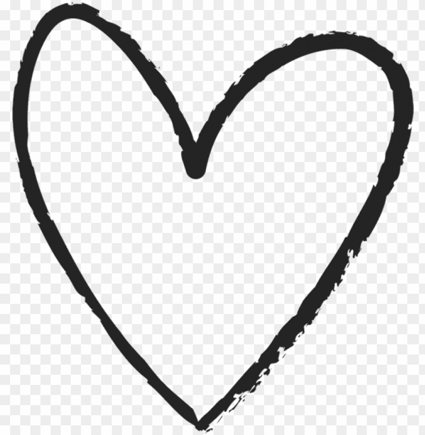 free PNG love hand drawn heart symbol outline - hand drawn heart clipart PNG image with transparent background PNG images transparent