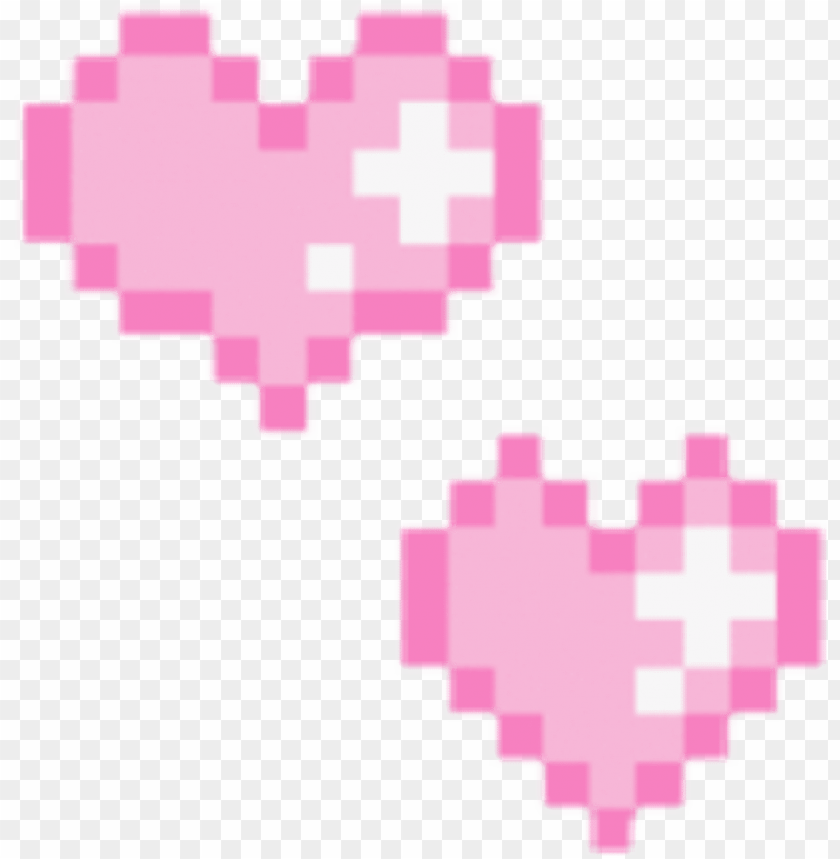 Love Heart Pink Pixel Game Shine Png Tumblr Aesthetic