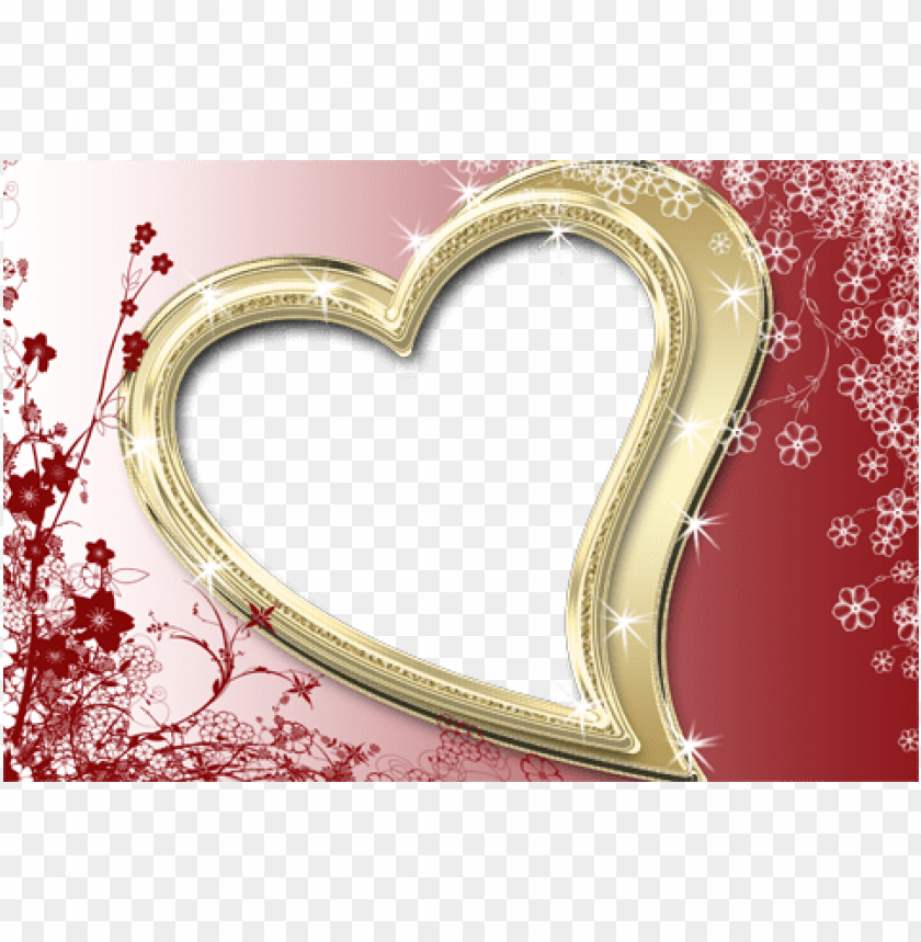 free PNG love shining heart frame for valentine's day - صور فيها اسم زياد PNG image with transparent background PNG images transparent