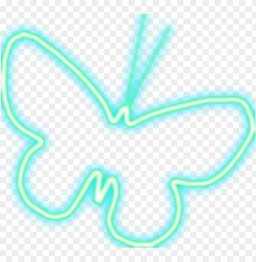 free PNG luces de neon png - mariposa de luz PNG image with transparent background PNG images transparent