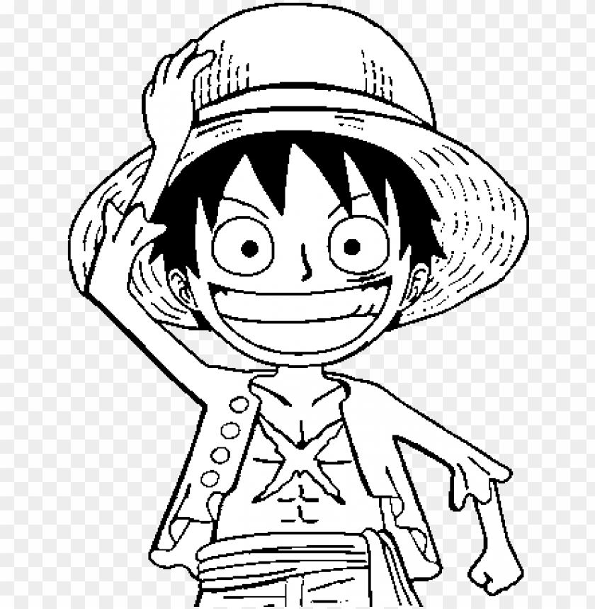 free PNG luffy coloring pages - one piece luffy coloring pages PNG image with transparent background PNG images transparent