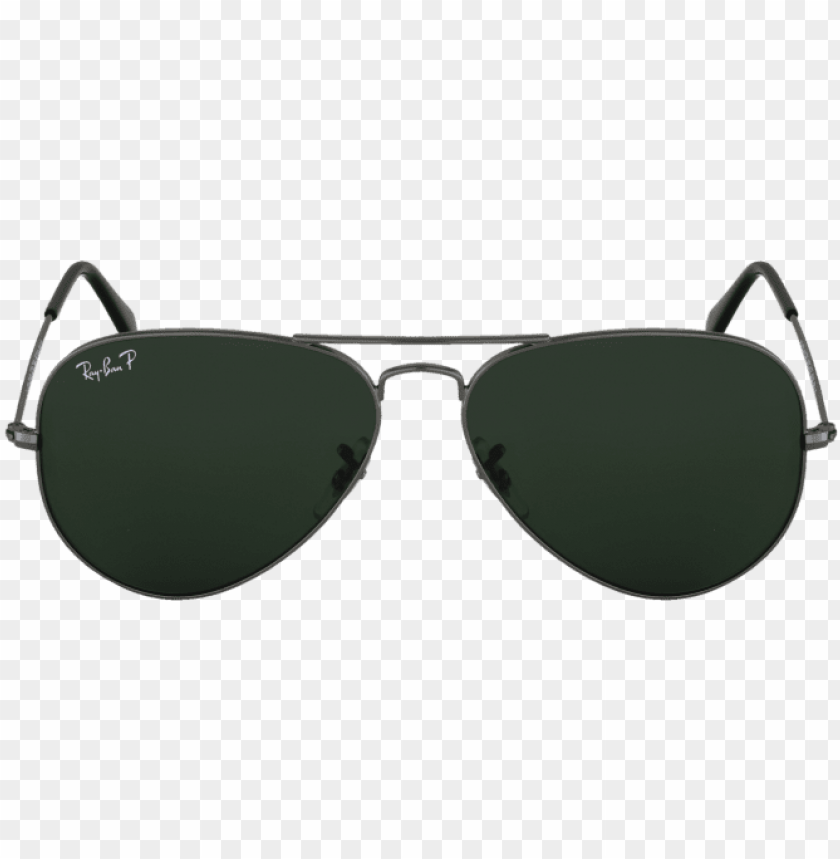 free PNG lunettes ray-ban aviator rb3025 polarisé - ray-ban rb3025 aviator large metal w0879 gunmetal crystal PNG image with transparent background PNG images transparent