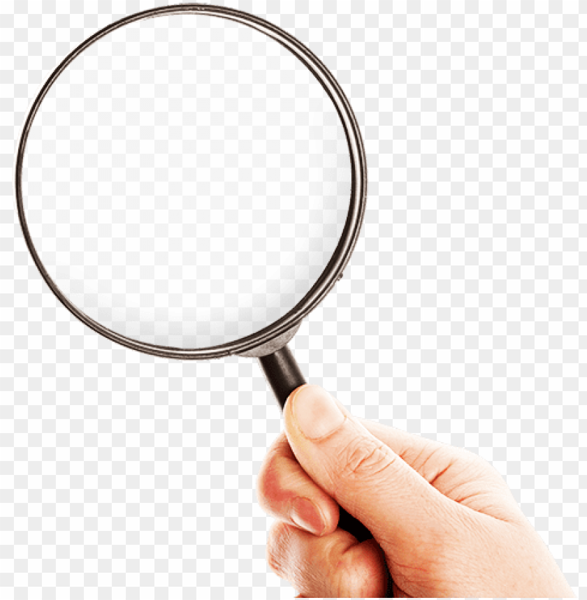 lupa - hand with magnifying glass PNG image with transparent background@toppng.com