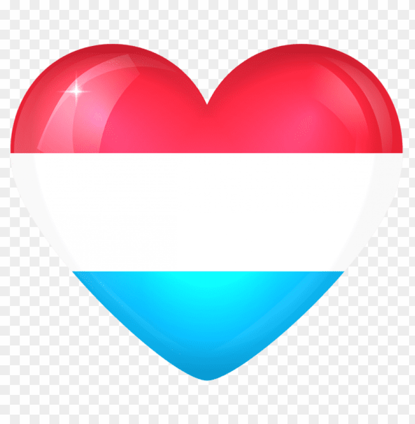 free PNG Download luxembourg large heart flag clipart png photo   PNG images transparent