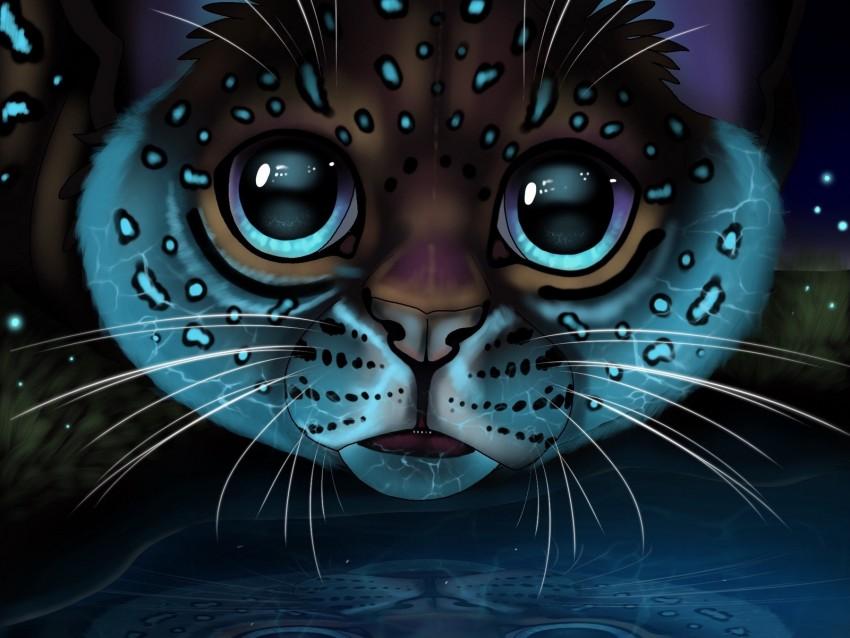 free PNG lynx, glance, art, big cat, reflection background PNG images transparent