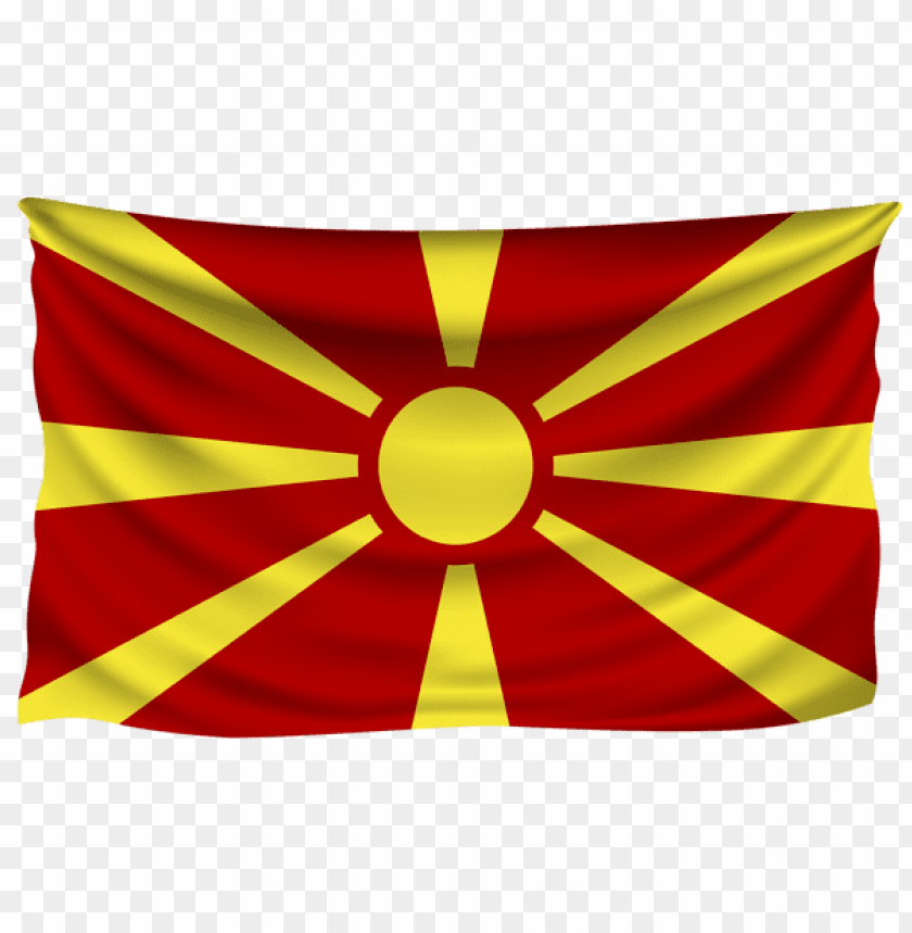 free PNG Download macedonia wrinkled flag clipart png photo   PNG images transparent