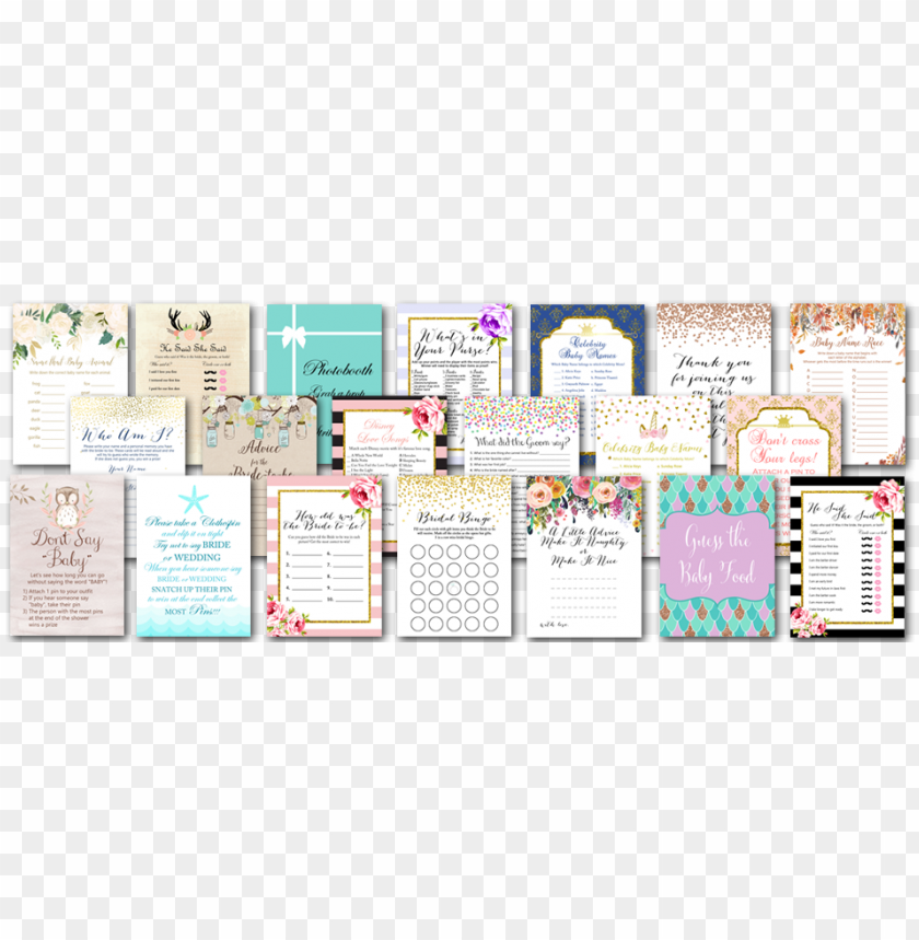 free PNG magical printable shop baby shower games bridal shower - bridal shower PNG image with transparent background PNG images transparent