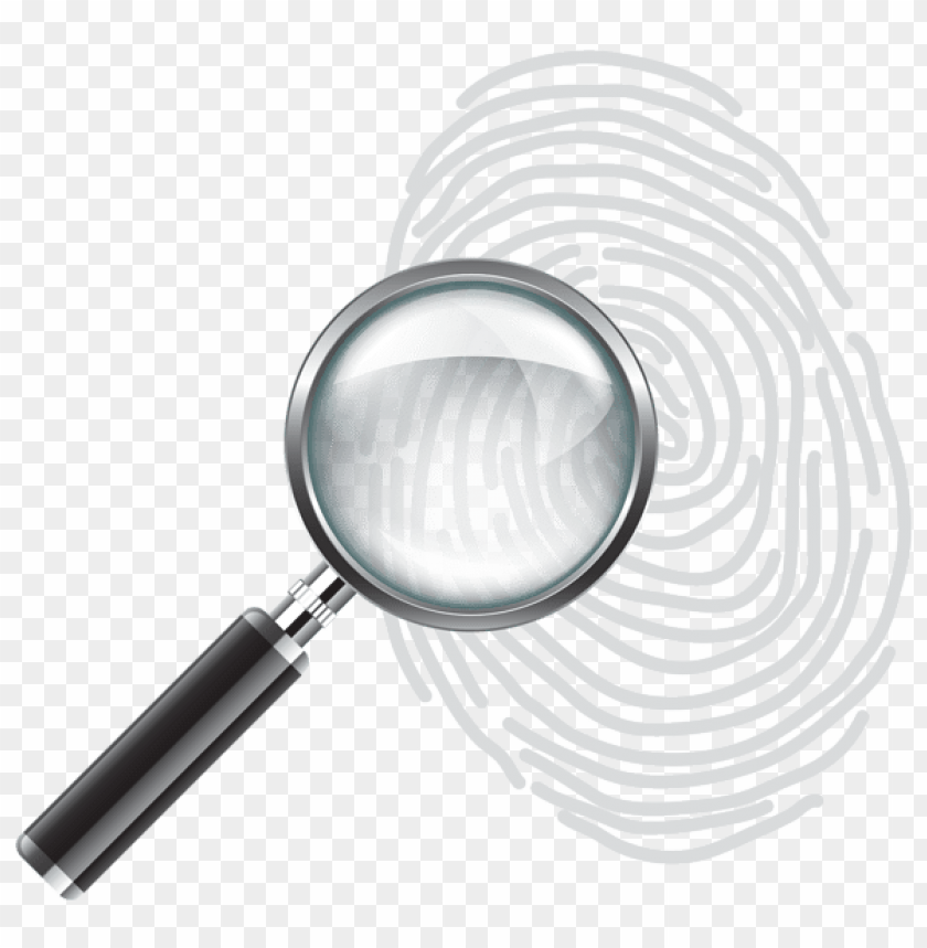 free PNG Download magnifying glass with fingerprint clipart png photo   PNG images transparent